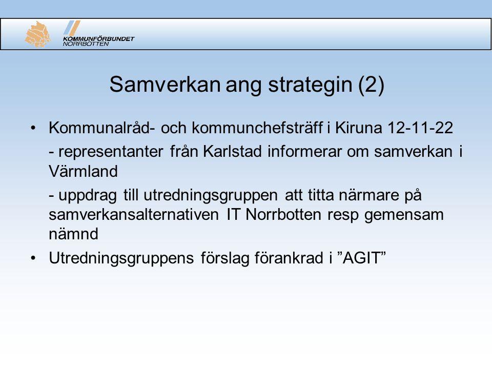 Aktiebolaget IT Norrbotten •Möjligheter för de ägande kommunerna att styra verksamheten.