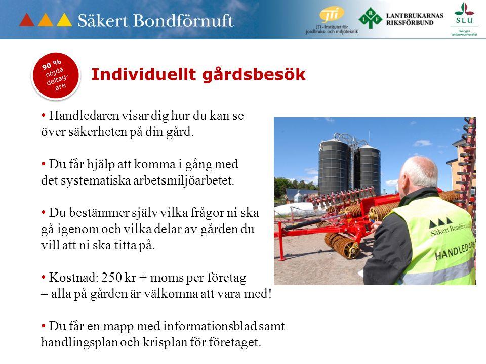 Individuellt gårdsbesök • Handledaren visar dig hur du kan se över säkerheten på din gård.
