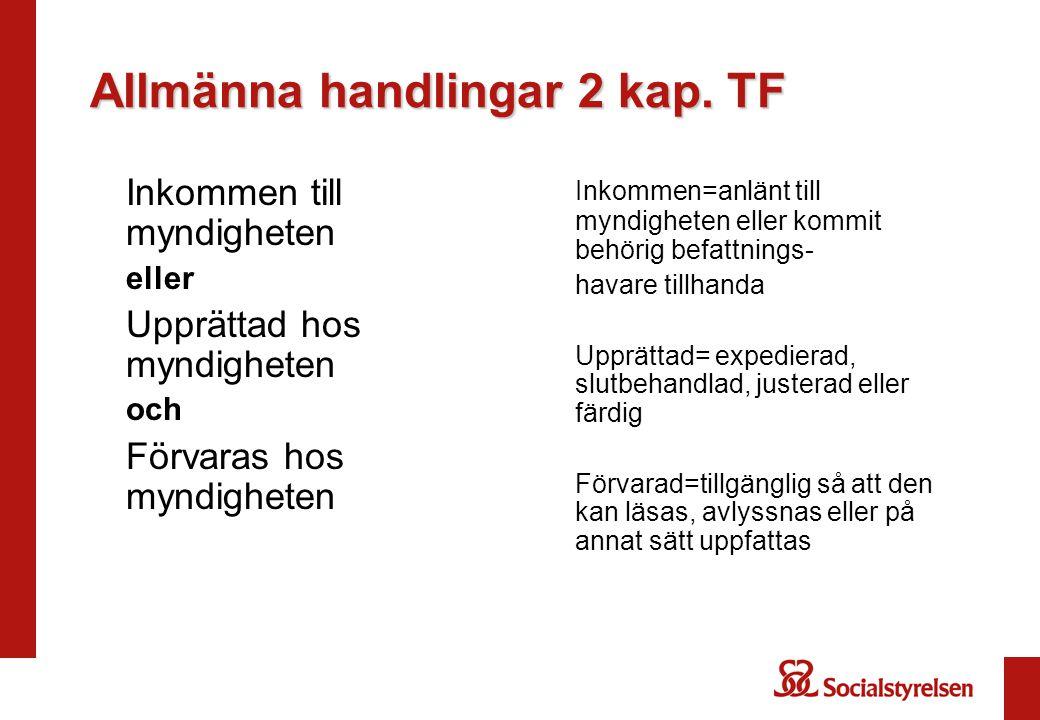 Allmänna handlingar 2 kap.