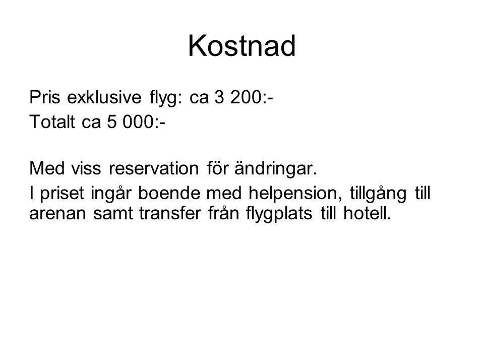 Finansiering 1.Bidrag från klubben.(500-1000 kr max) 2.Träningsbidrag enligt IKHP:s system.