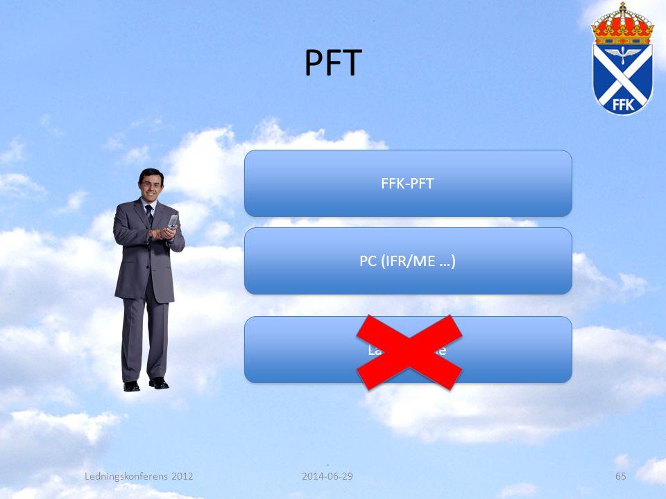 PFT 2014-06-29Ledningskonferens 201265 FFK-PFT Lärartimme PC (IFR/ME …)