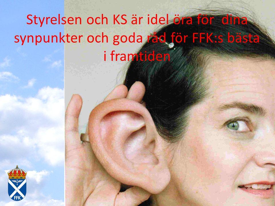 091114 – 15 Lfch+YP på kårstaben Styrelsen och KS är idel öra för dina synpunkter och goda råd för FFK:s bästa i framtiden