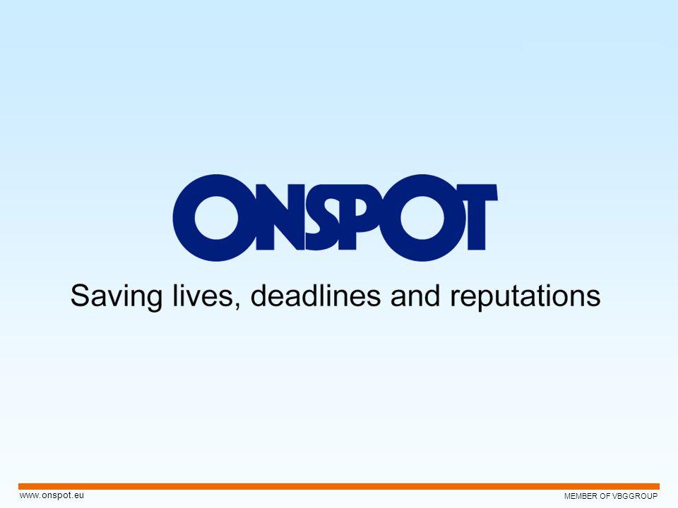 MEMBER OF VBGGROUP www.onspot.eu