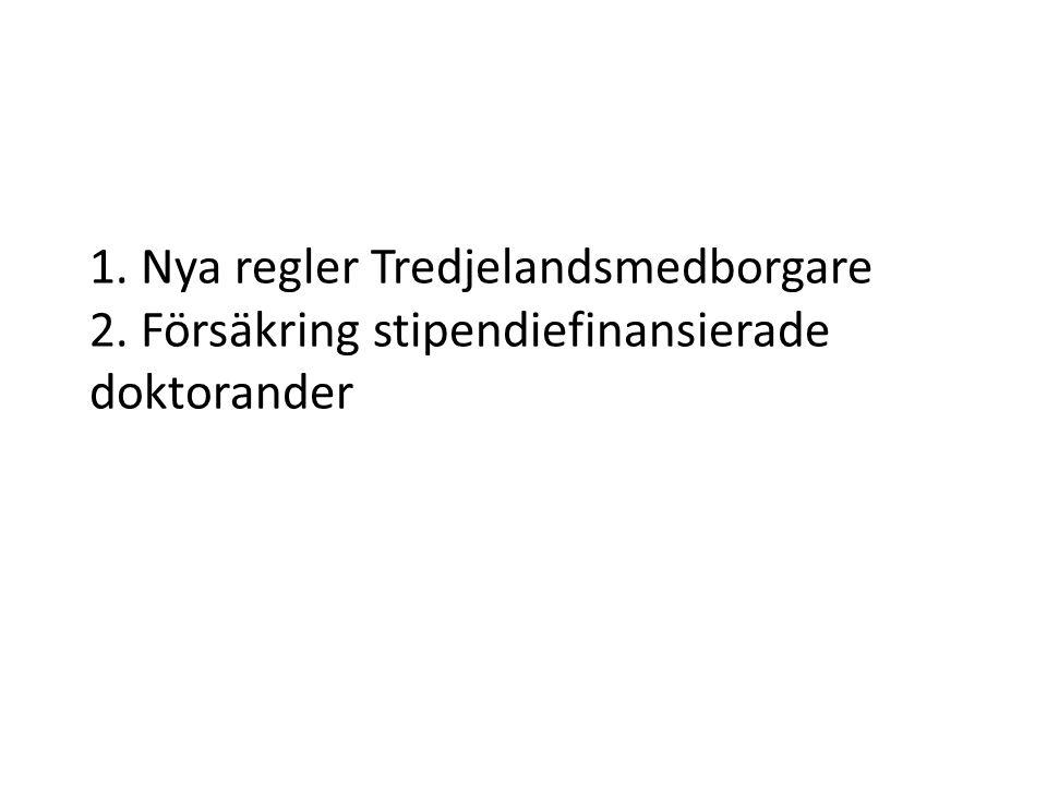 Anställning av tredjelandsmedborgare ( ej medlem i EU, ESS-stat eller Schweiz) • Ag skyldighet att kontrollera att At från 3:e land har uppehålls- och/eller arbetstillstånd – Straffbart att ha en person anställd om personen inte har rätt att vistas i Sverige eller saknar föreskrivet arbetstillstånd.