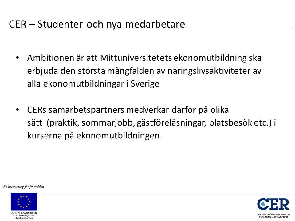 • Ambitionen är att Mittuniversitetets ekonomutbildning ska erbjuda den största mångfalden av näringslivsaktiviteter av alla ekonomutbildningar i Sver