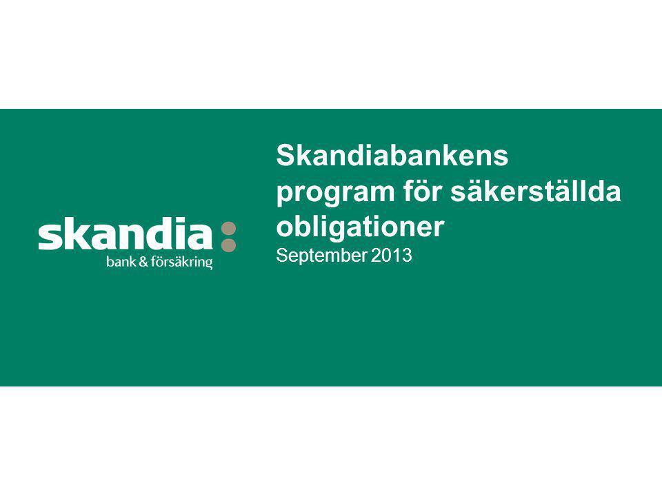 Skandiabankens program för säkerställda obligationer September 2013