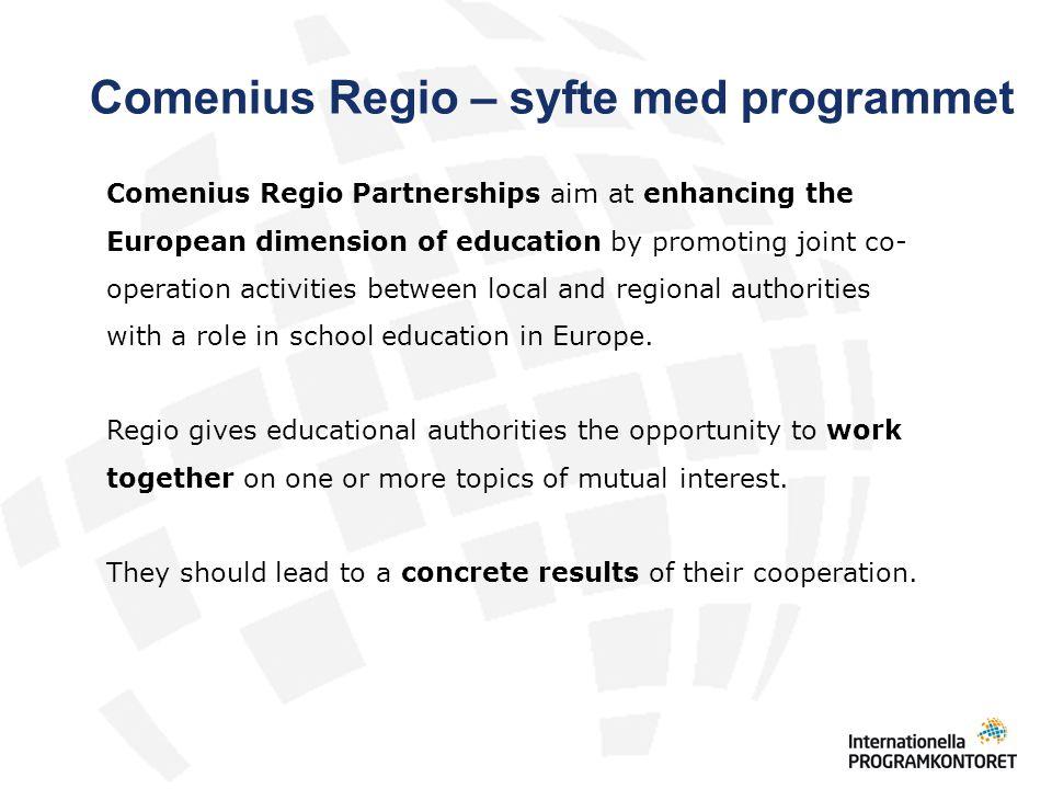 Det unika med Comenius Regio