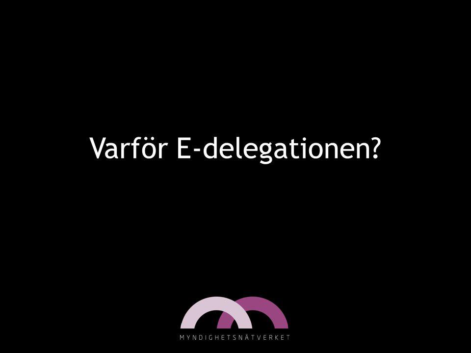 Varför E-delegationen?