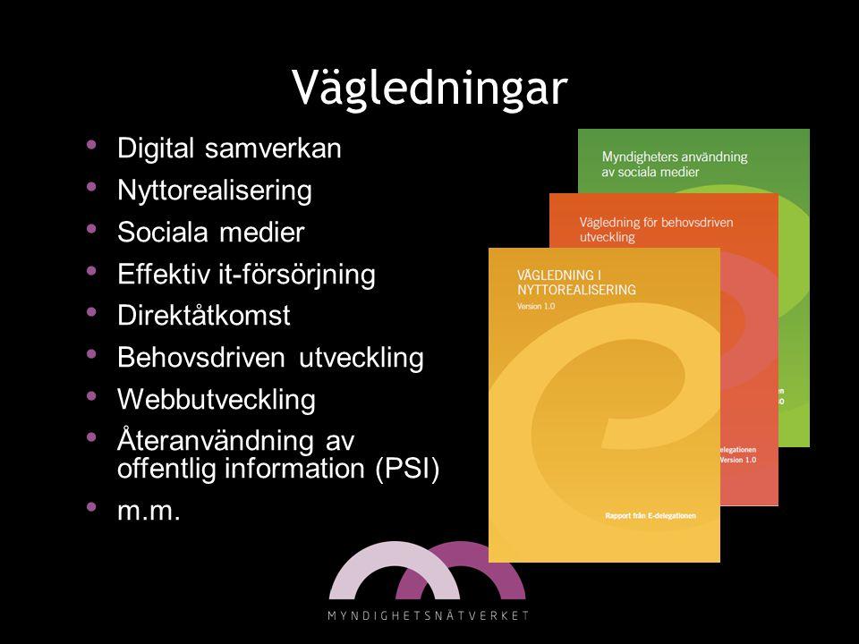 • Digital samverkan • Nyttorealisering • Sociala medier • Effektiv it-försörjning • Direktåtkomst • Behovsdriven utveckling • Webbutveckling • Återanv