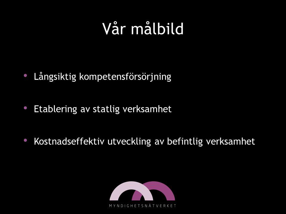 Myndigheterna Finns ca: 330 myndigheter Myndigheterna ska se till att riksdagens och regeringens beslut genomförs