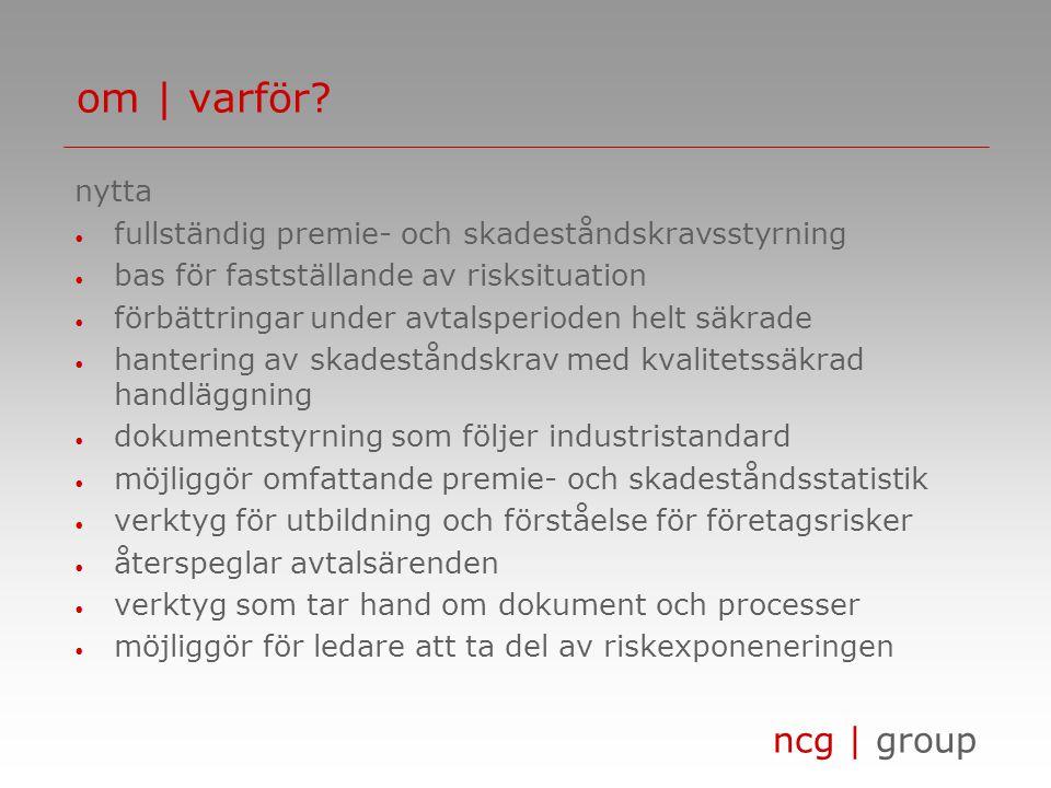 ncg | group om | navigator risk financing management tack för visat intresse! www.ncg-sweden.se