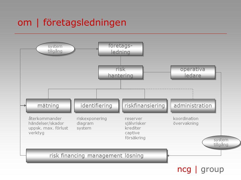 ncg | group om | key information