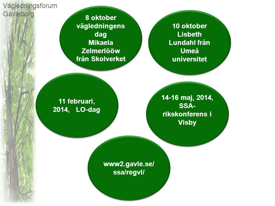 Vägledningsforum Gävleborg Har ni förslag på aktiviteter?