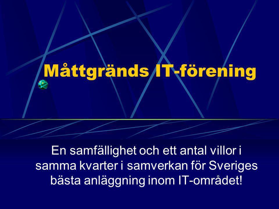 En samfällighet och ett antal villor i samma kvarter i samverkan för Sveriges bästa anläggning inom IT-området!