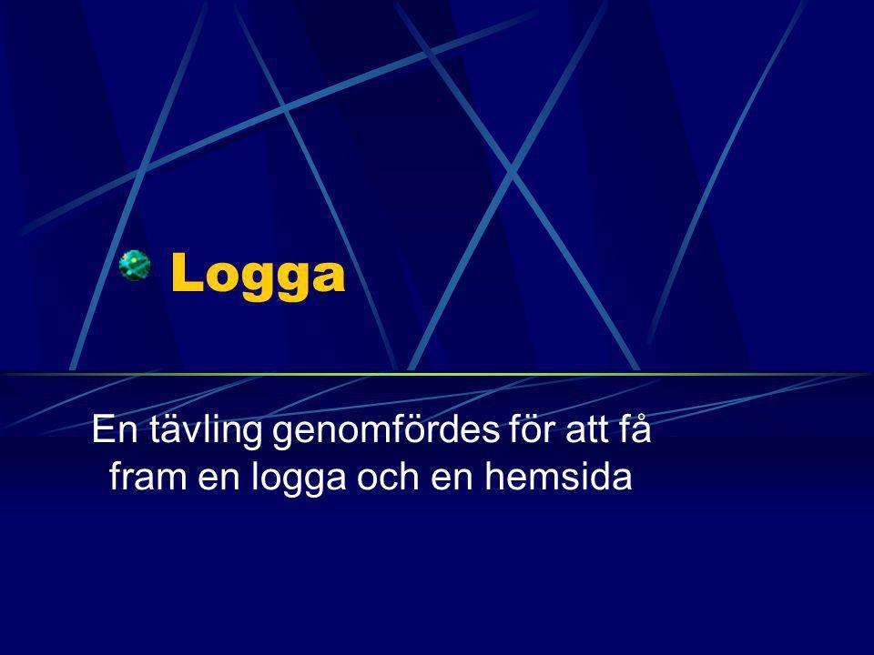 Logga En tävling genomfördes för att få fram en logga och en hemsida
