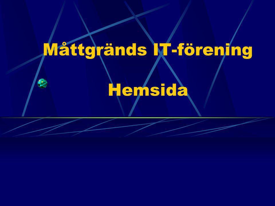 Måttgränds IT-förening Hemsida