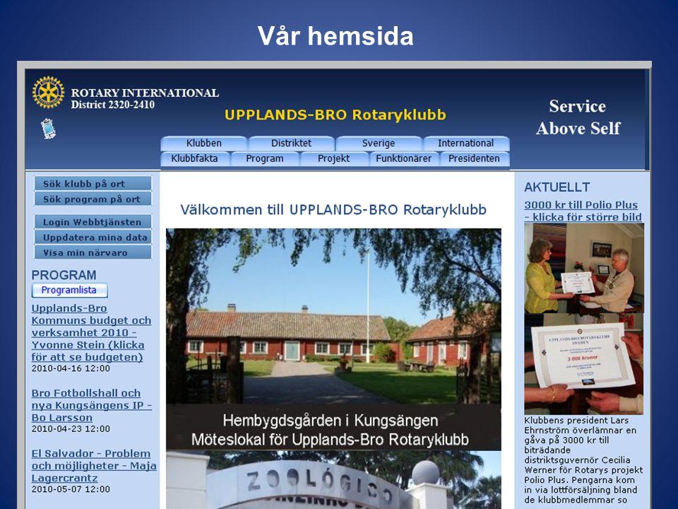 Vår hemsida