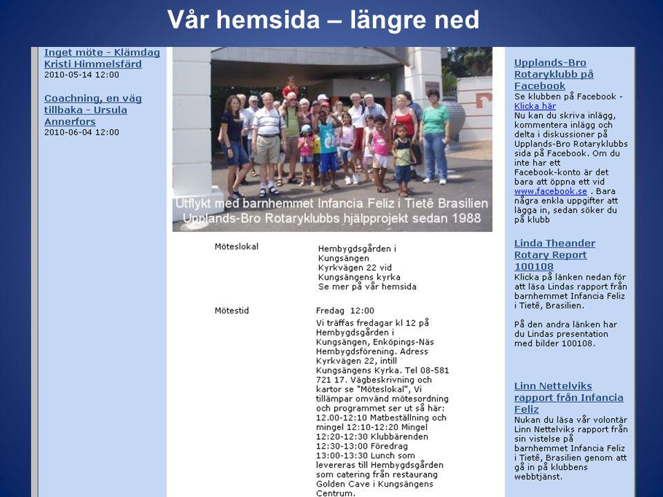 Vår Facebookgrupp – Evenemangsfliken Man kan exportera info till t ex Alla medlemmar i Rotaryklubben