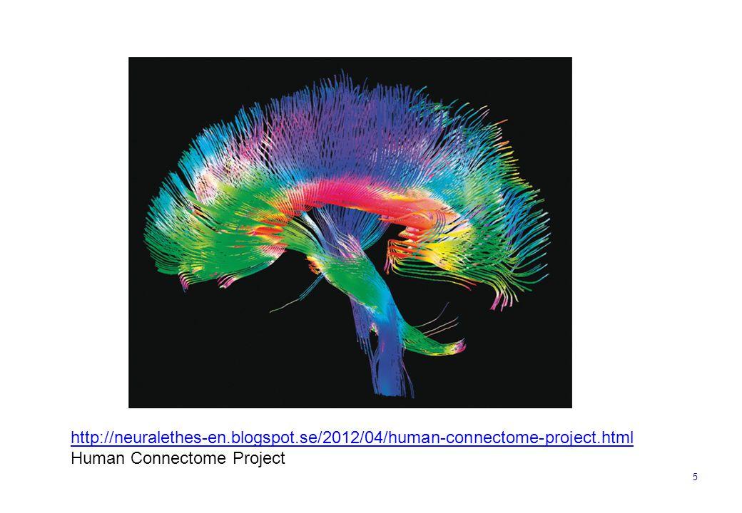 5 http://neuralethes-en.blogspot.se/2012/04/human-connectome-project.html Human Connectome Project