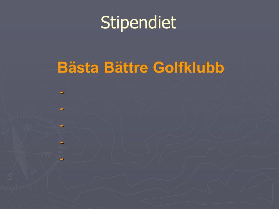 Bästa Bättre Golfklubb Stipendiet -----