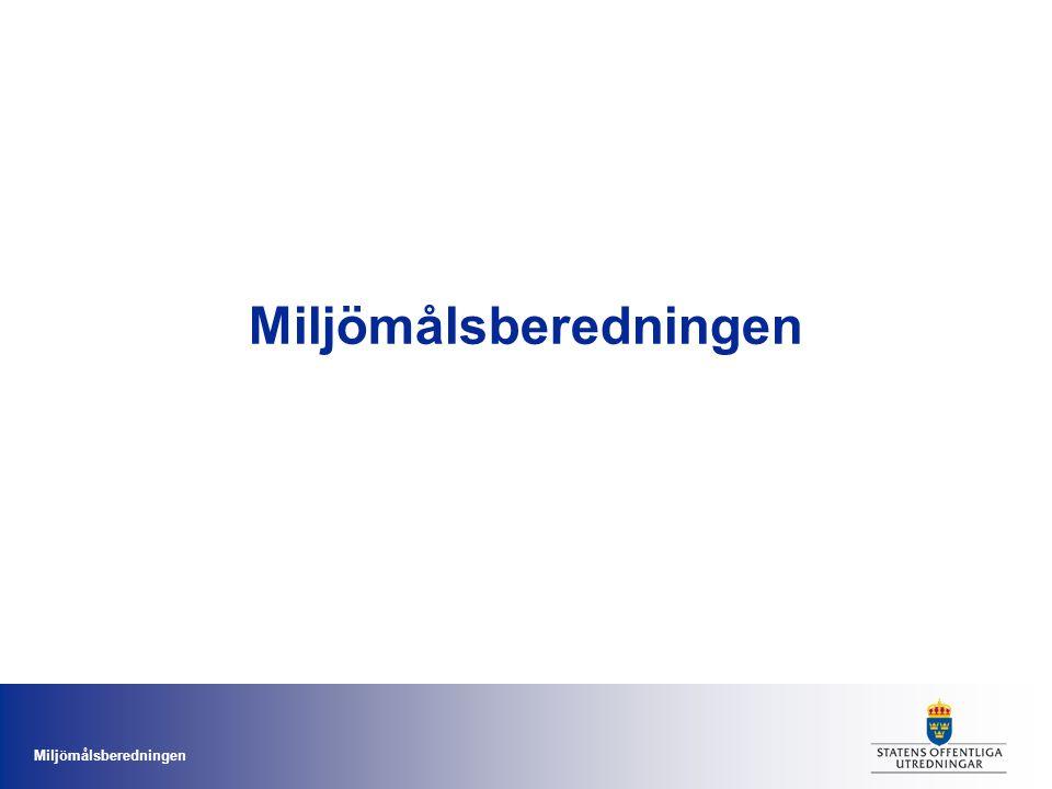 Miljömålsberedningen Strategi för en sammanhållen och hållbar vattenpolitik •Direktiv september 2012 (dir.