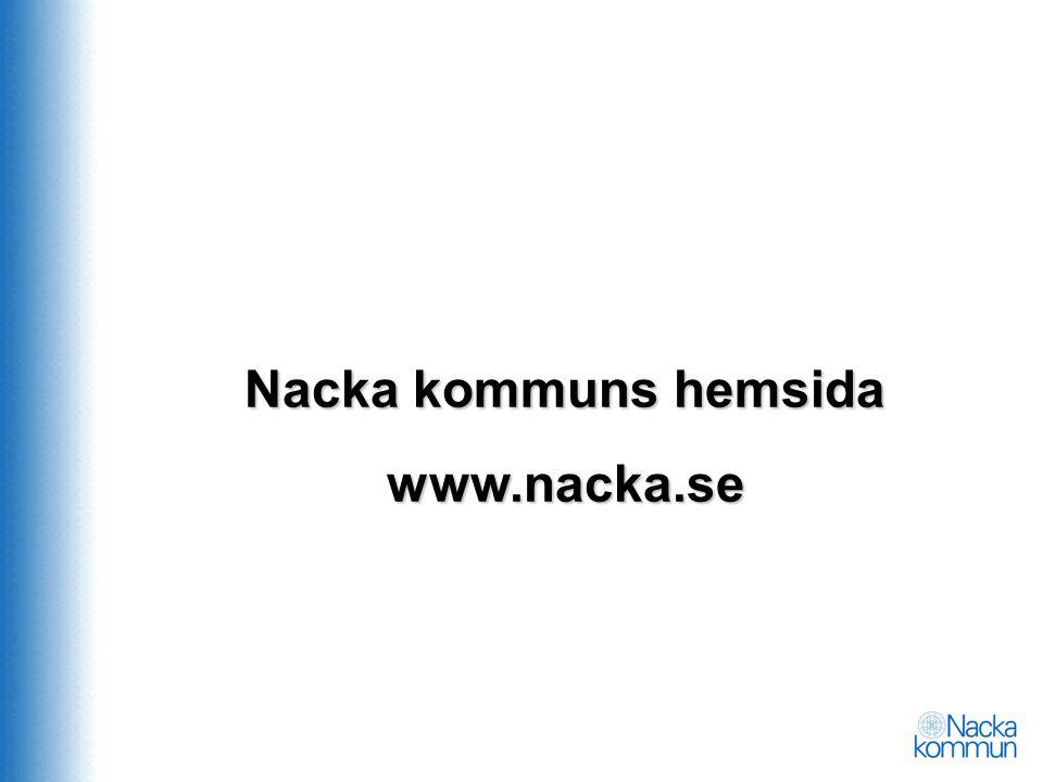 Nacka kommuns hemsida www.nacka.se
