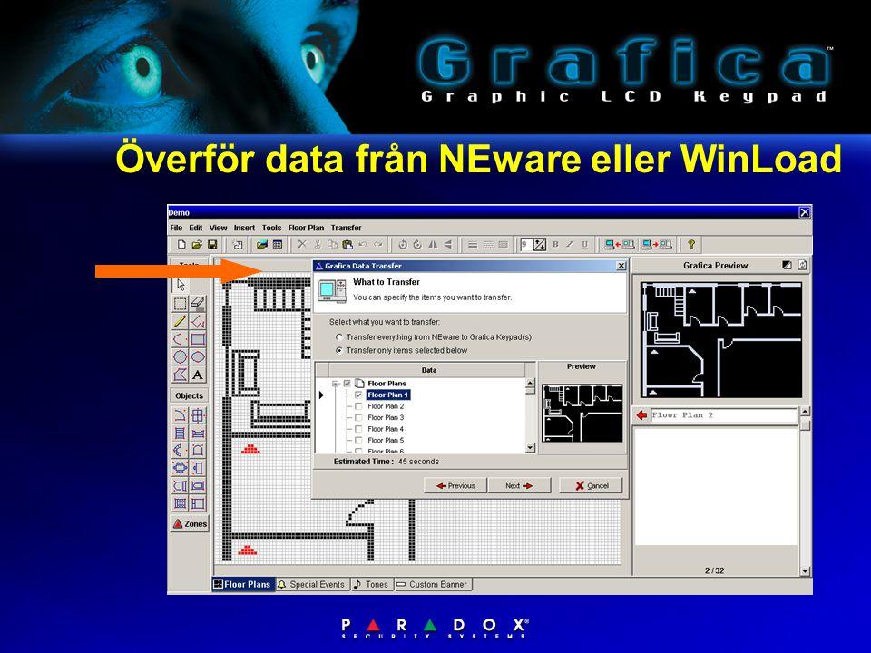 Överför data från NEware eller WinLoad