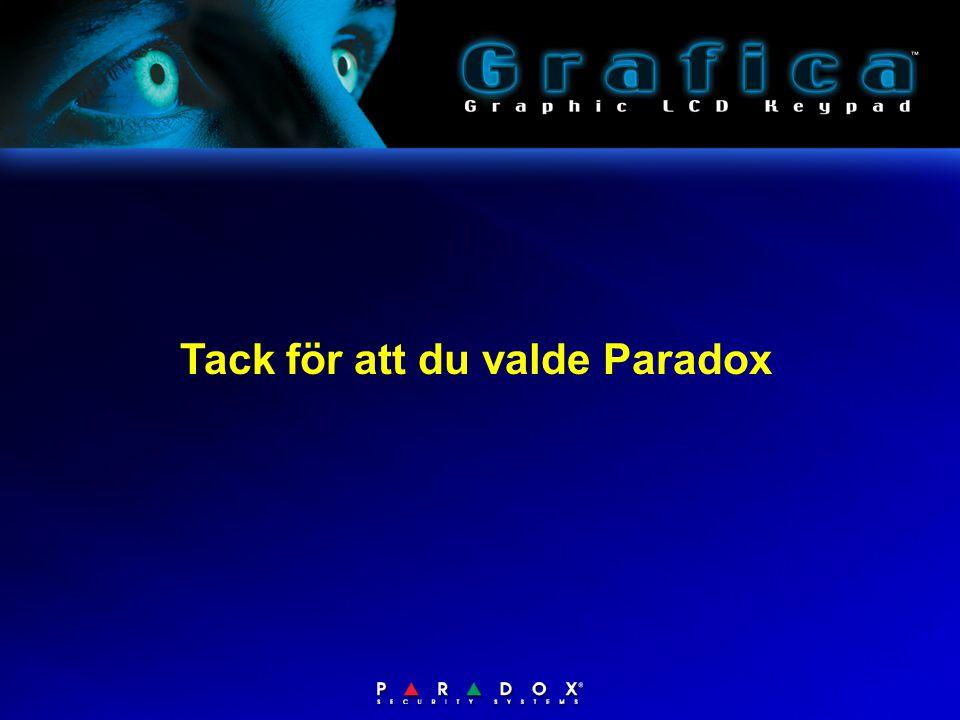 Tack för att du valde Paradox
