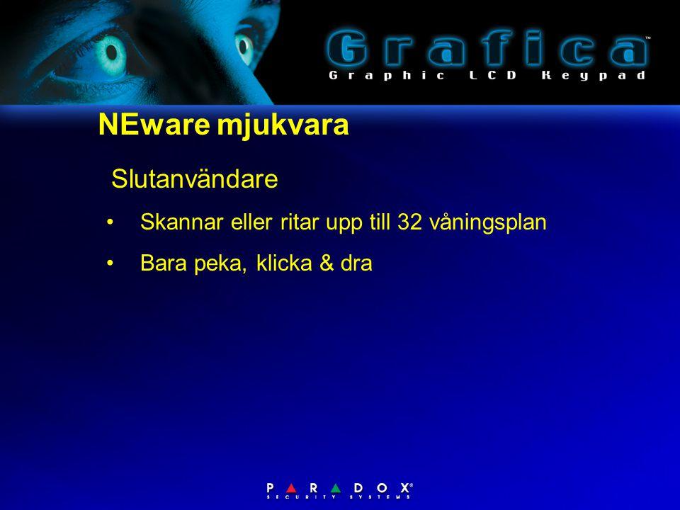 NEware mjukvara Slutanvändare •Skannar eller ritar upp till 32 våningsplan •Bara peka, klicka & dra
