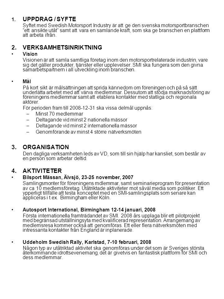 •Professional MotorSport Expo, Köln, 4-7 november, 2008 Tillfälle att genomföra SMI konceptet för mässdeltagande fullt ut.