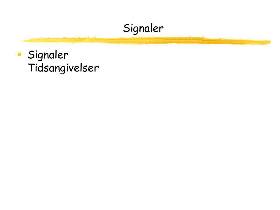 Signaler  Signaler Tidsangivelser