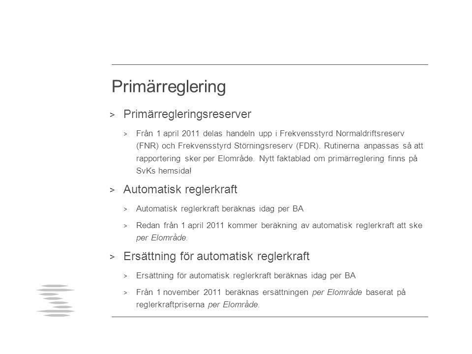 Avräkning > Mätvärden: > NÄ rapporterar värden per nätavräkningsområde till SvK > Då nya nätavräkningsområden etableras ansvarar SvK för att området entydigt hänförs till ett Elområde.
