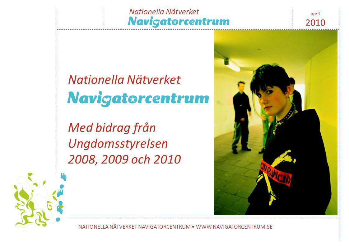 Nationella Nätverket NATIONELLA NÄTVERKET NAVIGATORCENTRUM • WWW.NAVIGATORCENTRUM.SE april 2010 Nationella Nätverket Med bidrag från Ungdomsstyrelsen 2008, 2009 och 2010