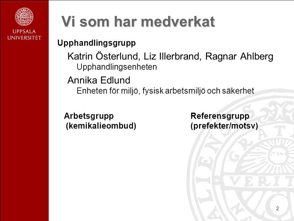 2 Vi som har medverkat Upphandlingsgrupp Katrin Österlund, Liz Illerbrand, Ragnar Ahlberg Upphandlingsenheten Annika Edlund Enheten för miljö, fysisk