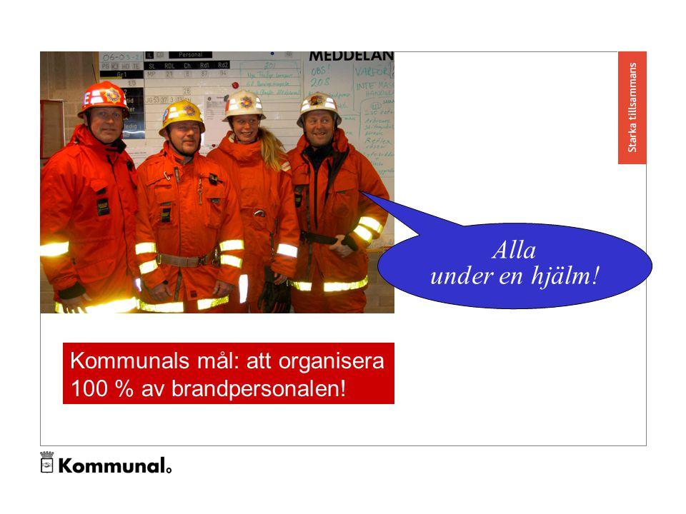 Alla under en hjälm! Kommunals mål: att organisera 100 % av brandpersonalen!