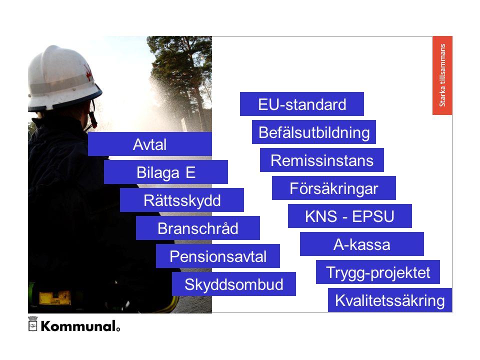 Avtal Bilaga E Rättsskydd Branschråd Pensionsavtal Skyddsombud EU-standard Befälsutbildning Remissinstans Försäkringar KNS - EPSU A-kassa Trygg-projektet Kvalitetssäkring