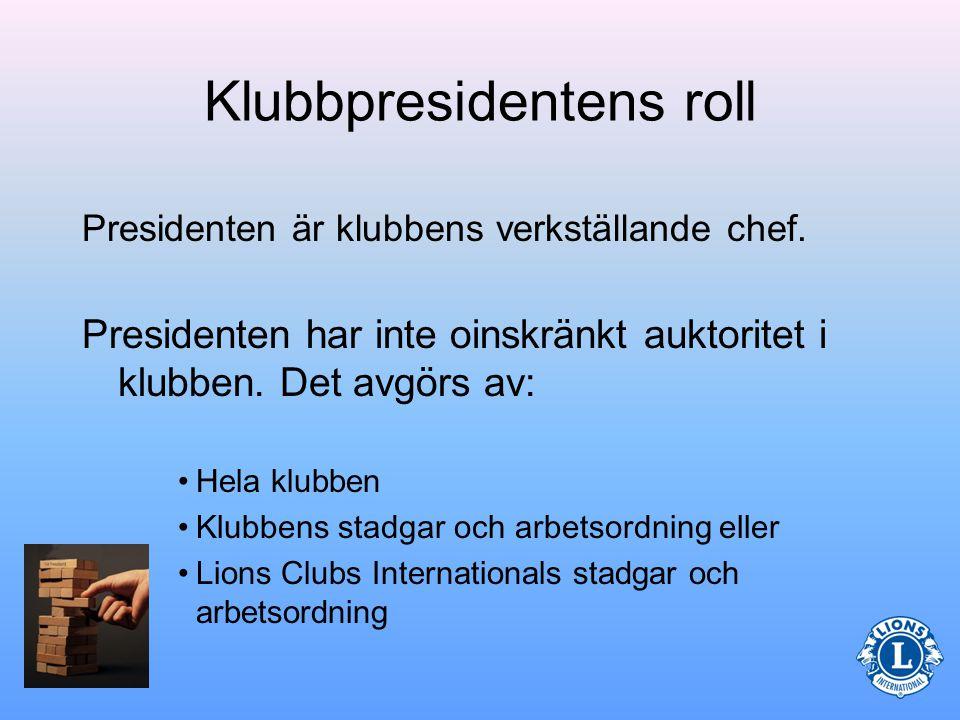 Vilken är klubbpresidentens roll