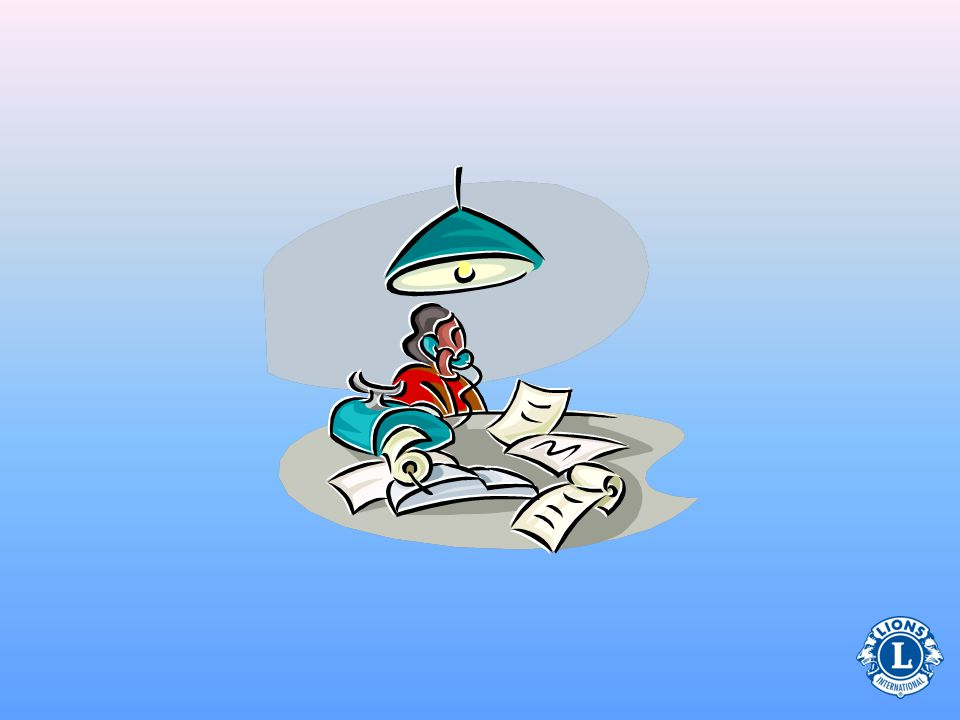 Frågor om klubbtjänstemän Finansiella dokument Medlems- register Mötes- protokoll Det är viktigt för klubbtjänstemän att diskutera hur de här tre sakerna skall organiseras innan verksamhetsåret börjar.