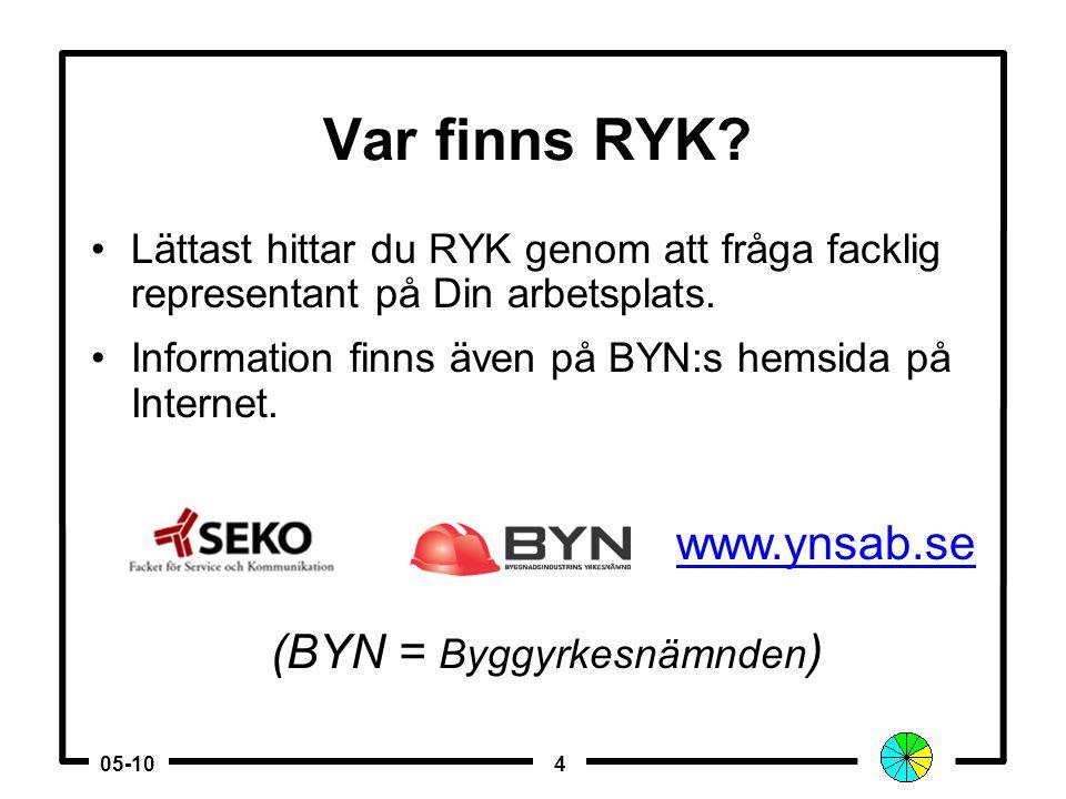 305-10 Kompetensprov •Börja med att kontakta den regionala yrkeskommittén, RYK. •Skicka in en ansökan med intyg från arbetsgivaren* där det framgår at