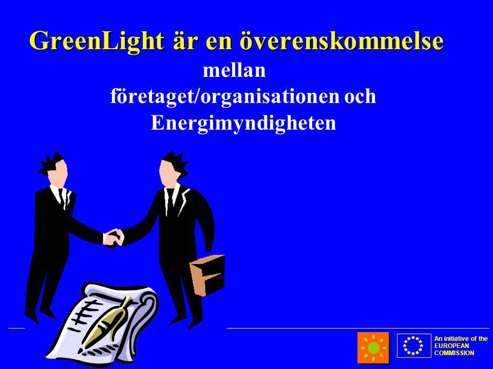 An initiative of the EUROPEAN COMMISSION GreenLight är en överenskommelse mellan företaget/organisationen och Energimyndigheten