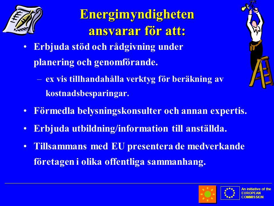 An initiative of the EUROPEAN COMMISSION Energimyndigheten ansvarar för att: •Erbjuda stöd och rådgivning under planering och genomförande.