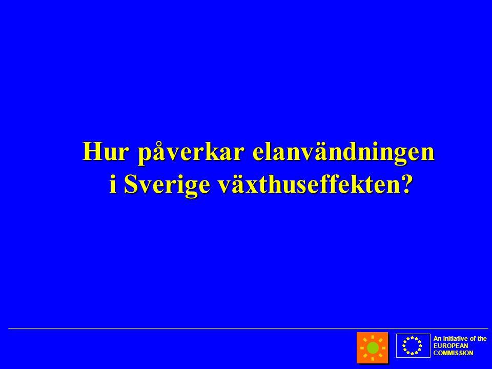 An initiative of the EUROPEAN COMMISSION Hur påverkar elanvändningen i Sverige växthuseffekten?