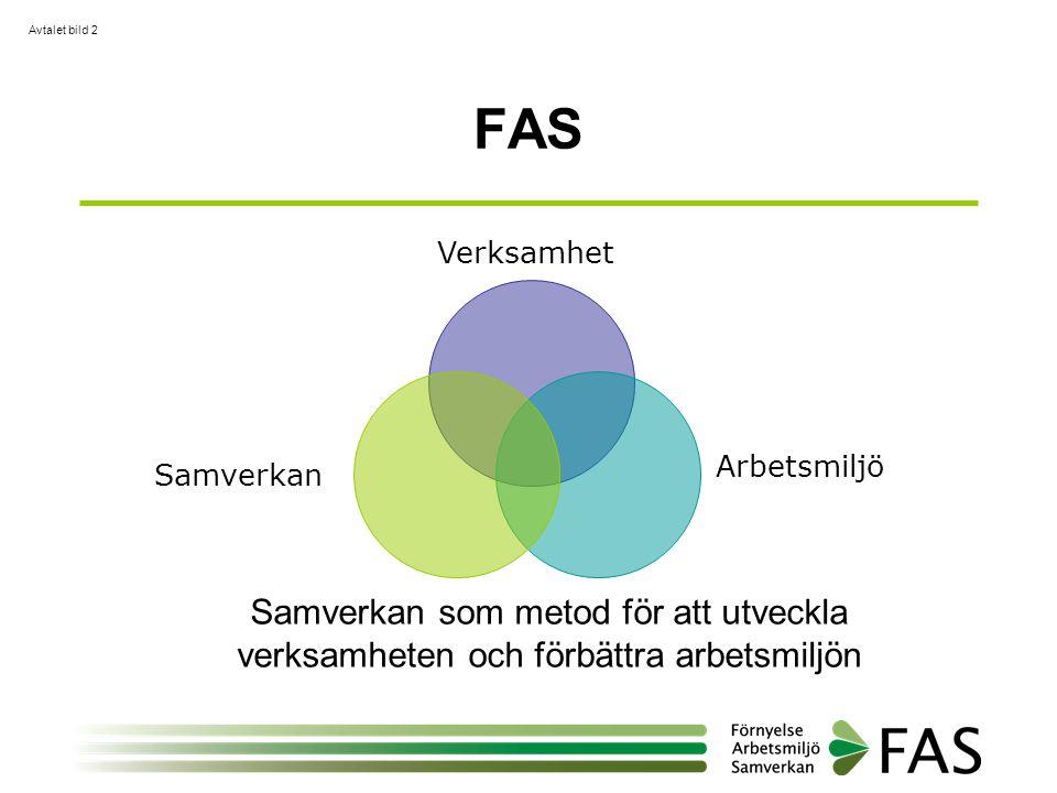 FAS Avtalet bild 2 Verksamhet Arbetsmiljö Samverkan Samverkan som metod för att utveckla verksamheten och förbättra arbetsmiljön