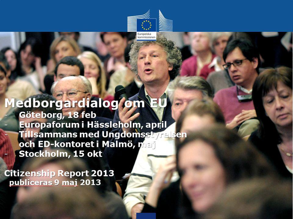 EU:s medborgarrapport 2013 Vad föreslår vi.Fokus på bl.a.