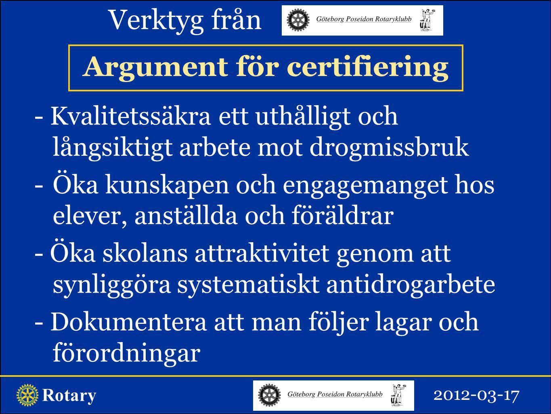 Rotary Fonden kan bidra med 1/3 av kostnad, (mot räkning/faktura) dock högst 5 000 kronor.