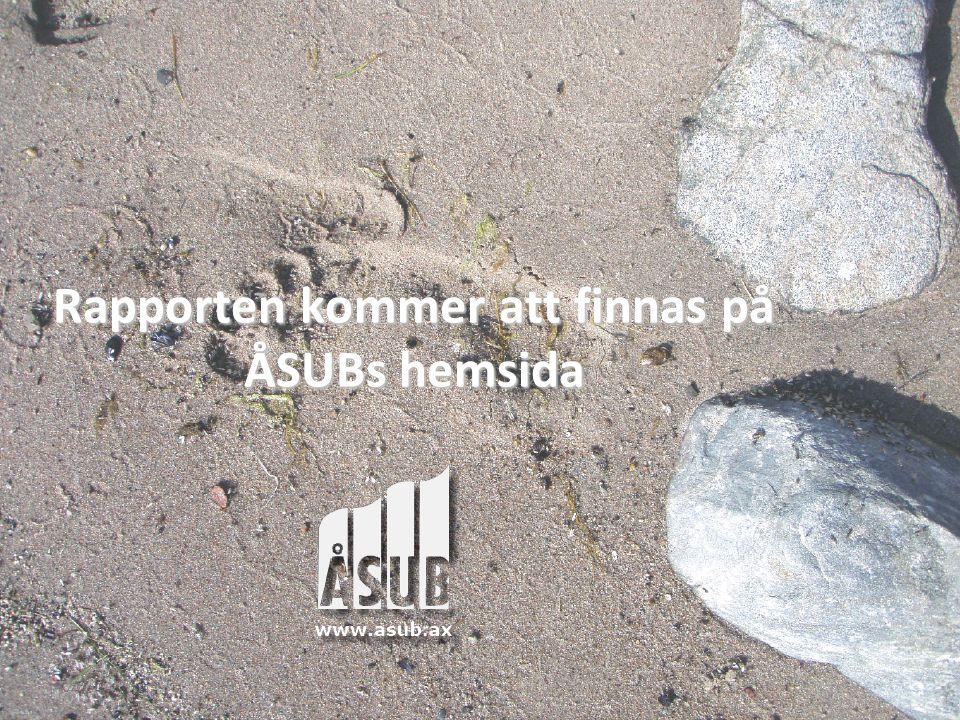 Rapporten kommer att finnas på ÅSUBs hemsida