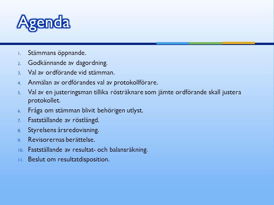 12.Fråga om ansvarsfrihet för styrelseledamöterna.