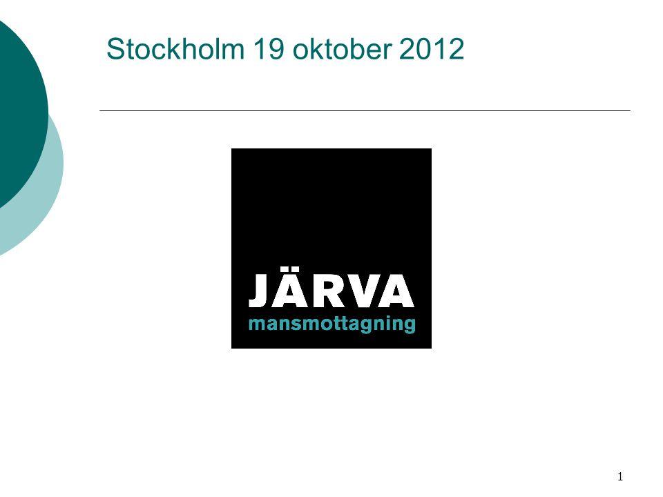 1 Stockholm 19 oktober 2012
