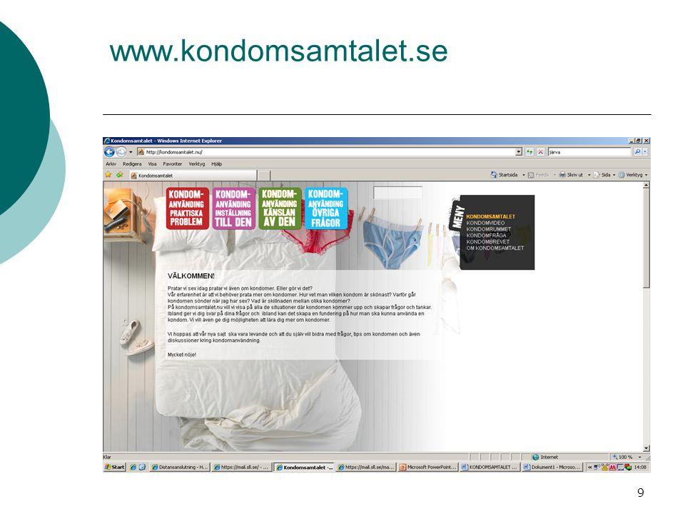 9 www.kondomsamtalet.se
