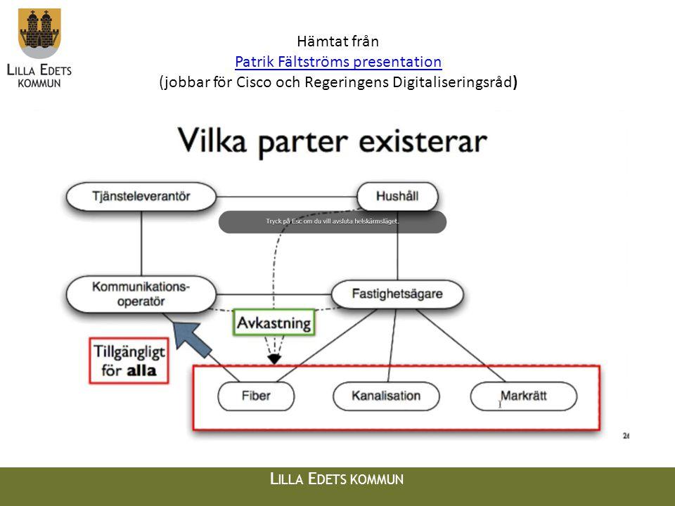L ILLA E DETS KOMMUN Framgångsfaktorer • Finns det intresse nog för att kolla vidare - Starta byalag • Försök gå ihop med andra (byalag/företag/…).
